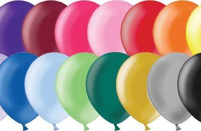 100 Pcs Metallic Solid Color Latex