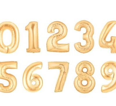 14 Inch Air - Filled Foil Number Balloons