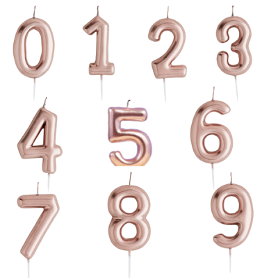 Numeral Candle Rose Gold