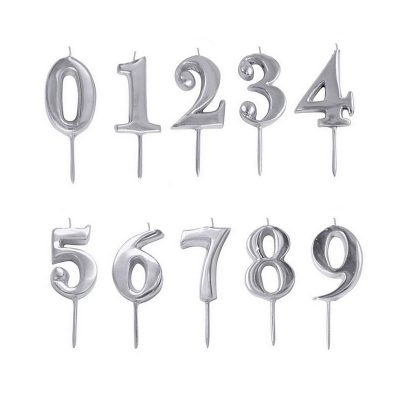 Numeral Candle Silver